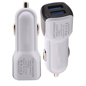 Universal Dual usb ports mini micro usb car charger 2.1A adapter for iphone samsung galaxy s4 s6 s7 s8 note 8 htc android phone gps mp3
