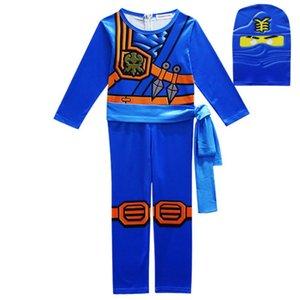 Новые Косплей мальчиков Комбинезоны Комплекты Legoo Ninja костюмы Halloween Christmas Party Одежда Дети Streetwear ниндзя Косплей