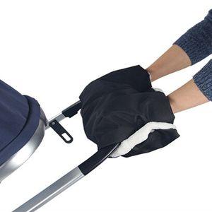 Kids Warm Stroller Gloves Pushchair Hand Muff Waterproof Pram Accessory Mitten Baby Buggy Clutch Cart Thick Fleece Gloves