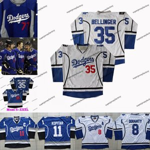 Los Angeles Sandy King Maillots Kopitar Jeff Carter Bett Koufax Cody Jonathan Bellinger Anze Mookie Doughty Warmup Clayton Kershaw Drew Qwqi