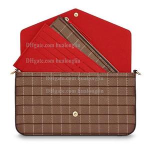 Сумка для женщин Оригинальная коробка Дата Дата Кодовая Сумка проверена Цветочная сумка Кошелек Сумка Messenger Bag Cross Body Fashion