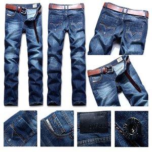 Jeans new fashion menswear designer brand denim trousers tight elastic stretch slim fit version slim hip-hop pants perforated male 02