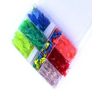 wholesale Selling 131 Lu Ya soft fishing lure lead hook package SMT hot boxed bait fishing box009