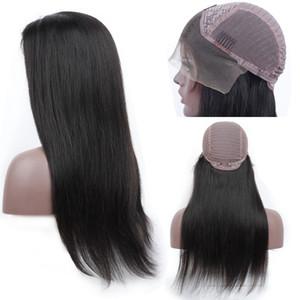 13x4 Frente de encaje Pelucas para el cabello humano para las mujeres negras por pelucas frontales de encaje 360 con cabello para bebés Brasileño Recto / Cuerpo onda 150% Densidad