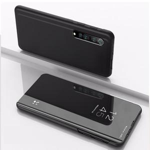 Кожаный зеркальный флип стенд чехол для Xiaomi Mi 10 Pro 9 SE Mi 8 SE Pocophone F1 Redmi Note 8 Pro 7 6Pro