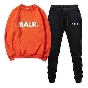 BALR Mens Designer Survêtement Blanc Noir Gris 100% coton originaux pour hommes Mode Automne manches longues à capuche + longues Pantalons 3XL