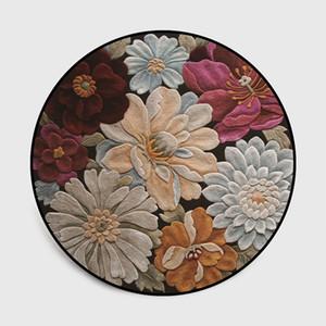 Diseño floral en 3D por la alfombra por un Coordinador de Área de estar sala de ordenadores manta de juegos para niños tienda de la estera del piso Aseo de alfombras y tapices