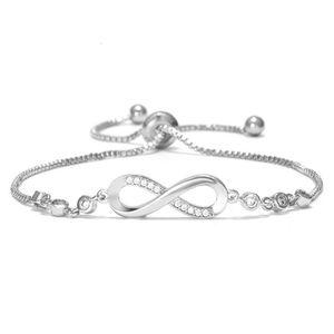 8 Infinity Charm Bracelet Trendy Geometric Adjustable Bracelets For Women Link Chain Bangles Armband Jewelry Gift pulseras mujer