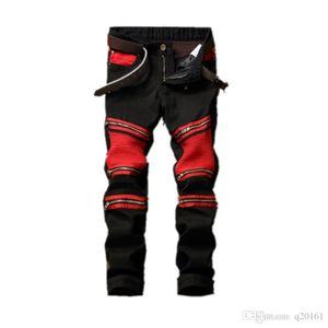 Male Brand Jeans Neue Ankunft Marke Desgin Zipper Decorative Stitching Jeans Mode Slim Fit Stretch Ripped Denim Male Jeans