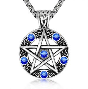 Сверхъестественное ожерелье пентаграмму пятиконечной звезды Wicca язычник Дин Винчестер Подвеска Урожай готические ювелирные изделия оптом