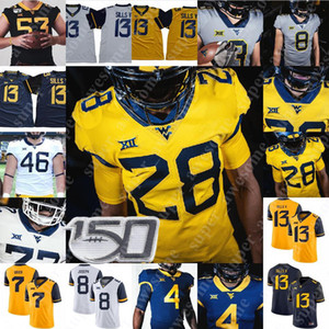 West Virginia Mountaineers Jersey Pat Branco Tavon Austin Major Harris Steve Slaton Sam Huff Bruce Irvin Darryl Talley Noel Devine
