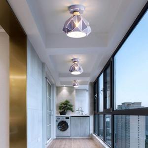 LED Macaron Moderna teto lâmpada Luzes Nordic Quarto Ferro de teto Iluminação Sala Quente teto lâmpadas luminárias RW12