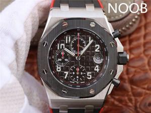JF 26470 orologio di lusso 3126movement üst siyah ve kırmızı lastik bant tasarımcı saatler saatler serisi çelik kabuk seramik ring.42mm 12H zaman