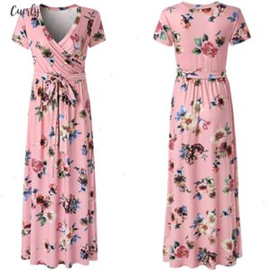 Women Summer Dress Sexy Short Sleeve V Neck Flower Print Evening Party Prom Swing Long Dresses Party Night Women Designer Clothes