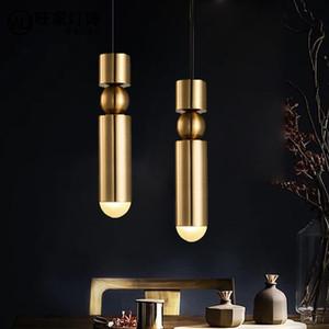 Led Lâmpada Pingente de Ouro Longo Tubo de luz Nordic moderno pingente luzes Cozinha Bar Sala de Jantar Decoração de Interiores Em Casa Iluminação - I174