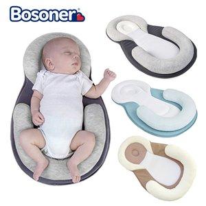 Bébé nouveau-né Stéréotypes oreiller bébé anti-renversement surmatelas 0-12 mois Positioning Baby Sleeping Pad coton oreiller T200603