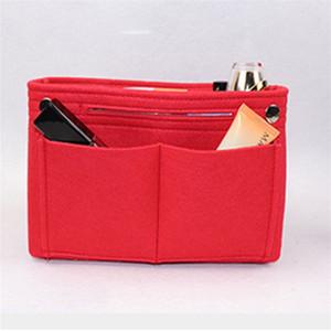 Femmes multi-poches maquillage paquet mi paquet haute capacité sacs à cosmétiques s'adapte à insérer sac à main mélange de couleurs populaire 13lc k1