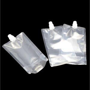 Очистить Blank 250мл носик мешок Жидкие напитки Нефть Вода Упаковка Мешок Пластиковый Встаньте Beverage Сумки Универсальный W8101