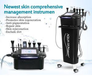 Miglior microdermoabrasione facciale RF Lifting ringiovanimento della pelle alleggerimento Hydro diamond Macchina facciale per la pulizia della pelle con 9 maniglie
