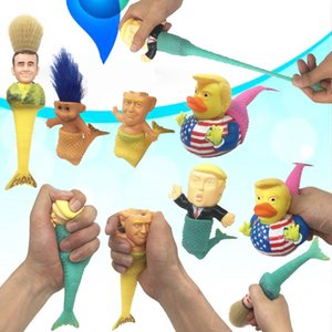 Kreative 2020 Trump Spielzeug Cartoon Artificial Mermaid Ornament Squishy Mermaid Spielzeug-Partei-Bevorzugung 5 Arten T2I51012
