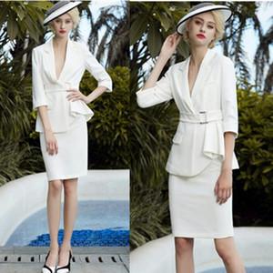 Skirt Suits Women 2 Piece Set Office Lady Business Formal Work Blazer Midi Pencil Skirt Elegant  OL Spring Autumn Clothes