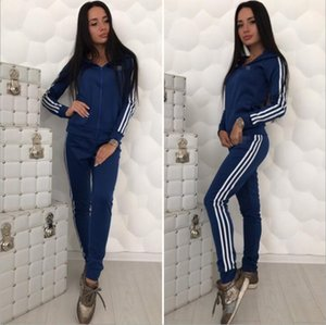 2020 New Women Tracksuit Fashion Womens Jacket Sport Womens 2 Piece Sets Sport Sweatshirt Casual Zipper Asia Size S-XL