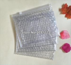 고품질 10PCS 16 개 * 21cm 지퍼 버블 포장 가방 플라스틱 포장 봉투 투명 내진성 가방