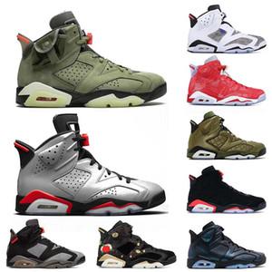 2019 Classic 6 6s Hommes Basketball Chaussures Noir Vert Tinker ciment Designer Shoes Baskets Sneakers US 7-13