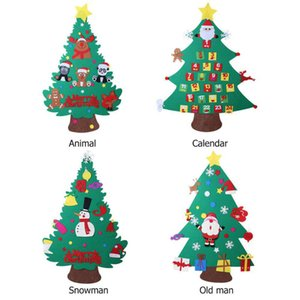 Kids DIY Felt Christmas Tree with Ornaments Children 3D Merry Christmas Decoration Xmas Supplies
