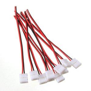 10PCS PCB 케이블 2 핀 LED 스트립에 연결 3528 단색 어댑터 8mm