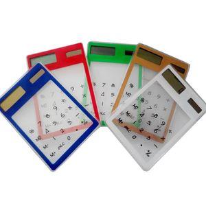 Centechia LCD 8-stelliger Touchscreen Ultra Slim Transparent Solar Calculatorstationy Clear Scientific Calculator Student