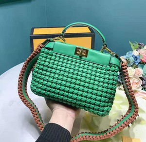 Designer Modelo De Crochê Bolsa De Desenho Simples Bolsas De Moda Senhora Da Moda Malas De Alta Qualidade Design Sénior Sente Mulheres Cross Shoulder Bag / 5