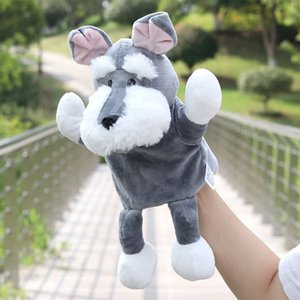 new plush toy full - length puppy has a foot doll parent-child story props
