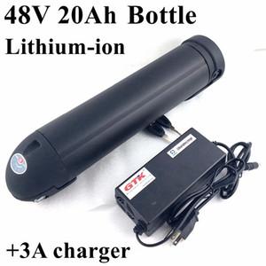 Hervidor de agua negro 48V 20Ah Batería de botella de agua bbs02 Batería de bicicleta con kit BMS + cargador 54.6v 3A células de alta calidad
