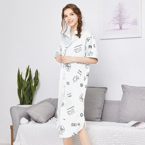 Nightgown Silk like polyester Shirt Women Sexy Pajamas Home Clothes Sq880