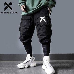 Calças destacável Multi-bolso de carga Homens Harajuku Hip Hop Streetwear Corredores Homem elástico na cintura Sweatpants Techwear