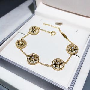 marca 2020Hot S925 pulsera de plata pura brújula madre biológica de la pulsera del brazalete de 5 estrellas señoras del partido fiesta de la moda de lujo de estilo elegante