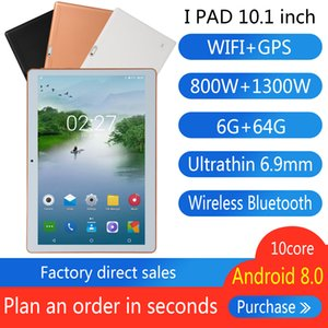 I PAD 10.1inch The tablet Android8.0 10core 3 g phone memory6+64GB 8800mah GPS WIFI WPS office 800Wpixel+1300Wpixel wireless Bluetooth