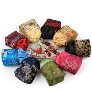 7 * 5 * 13cm broccato di seta sacchetto dei monili del sacchetto coulisse borsa della moneta del ricamo del fiore della nappa Decor Regali Borse Sacchetti