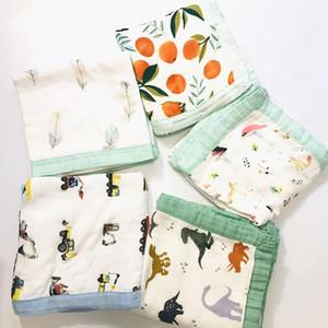 Quatro Camada Gauze Bamboo Cotton bebê Muslin Blanket Muslin Árvore de gavetas macia do bebê de bambu cobertor infantil Enrole