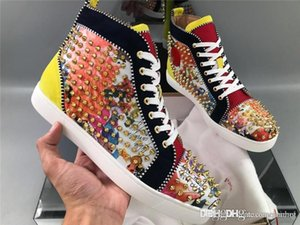 ChristiLoubou CL Bip Bip Sakouette Rantus Orlato High Top Red soled shoes Red Bottom Shoes Sneakers Sneakers Shoes With Original Box