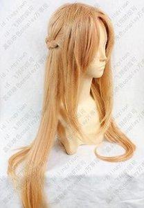 WIG Livraison Gratuite Épée Art Online Asuna Yuuki longue perruque de cosplay 80cm