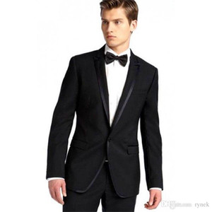 2Piece (Coat+Pants) Black Men Suits for Wedding Man Suits Blazers Groom Tuxedos Slim Fit Terno Masculino Costume Homme Evening Party