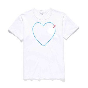 Men Women Designer T Shirt Fashion Summer New Brand Tshirts Luxury Tshirt Short Sleeve Tees Heart Print Funny Top Tees