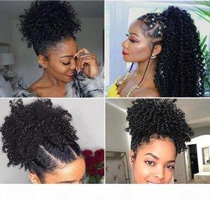 Afro Kinky Curly Human Hair Ponytail For Black Women Brazilian Virgin Hair Drawstring Ponytail Hair Extensions 8-24 inch