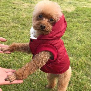 Pet одежды собаки флис и хлопок Подкладки Extra Warm собаки Hoodie В зимней маленькой собаке куртка щенок пальто с капюшоном WX9-1792