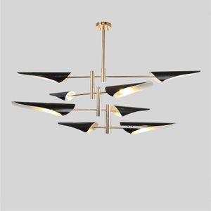 Metal boca inclinado criativo pós-moderno vento Nordic industrial sala de estar quarto contratado tieyi personalidade lustre direto da fábrica