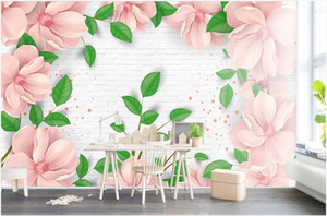 WDBH custom photo 3d stereo new bedroom flower background wall stickers home decor 3d wall murals wallpaper for walls 3 d