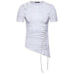 Fit Shoulder Design Design Clothing Irregular Braid Designer T Tops Shirts Mens Fashion Spring Mens Male Slim Wfwqv