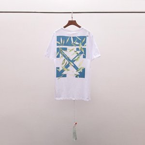 2020 new European and American tide brand OFF European version of fashion jasmine arrow print OW men and women short-sleeved T-shirt